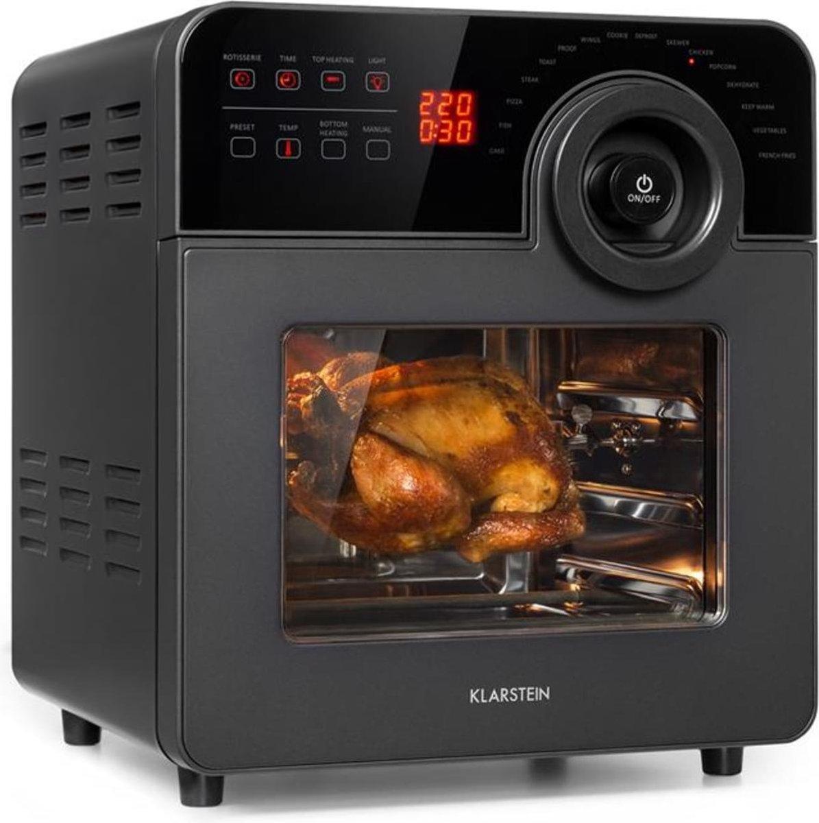 AeroVital Cube Chef heteluchtfriteuse 1700W 14l 16 programma's zwart