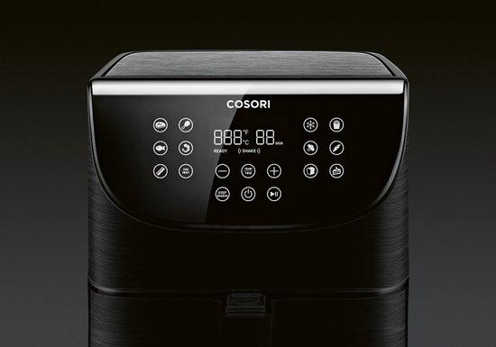 Cosori - Smart 5.8-Quart Air Fryer-Heteluchtfriteuse-App bediening-5.5Liter-Zwart