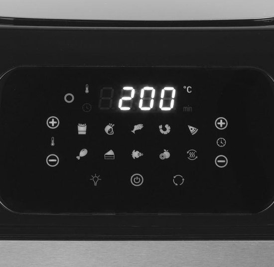 GOURMETmaxx Heißluft-Fritteuse Digital 12l 1800W schwarz