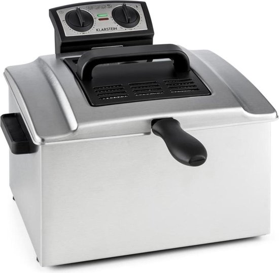 QuickPro XXL 3000 Friteuse 5 l 1,5 kg 3000 W Timer Roestvrij staal