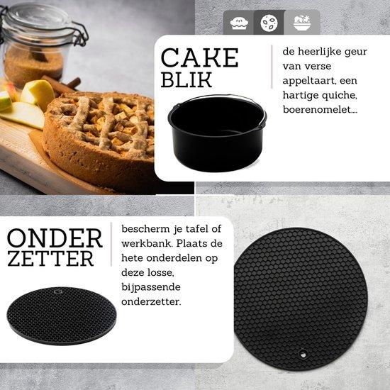 Heteluchtfriteuse accessoire - Cake Blik en Onderzetter - Inclusief Ebook Kookboek