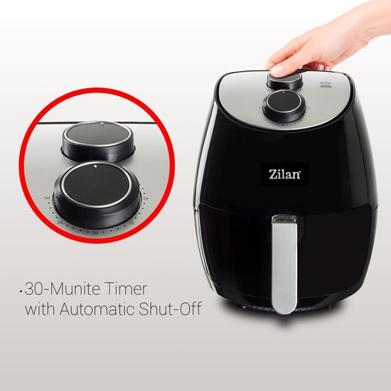 Zilan Airfryer - hetelucht friteuse - 1350 Watt - 2.6 liter - Air Fryer