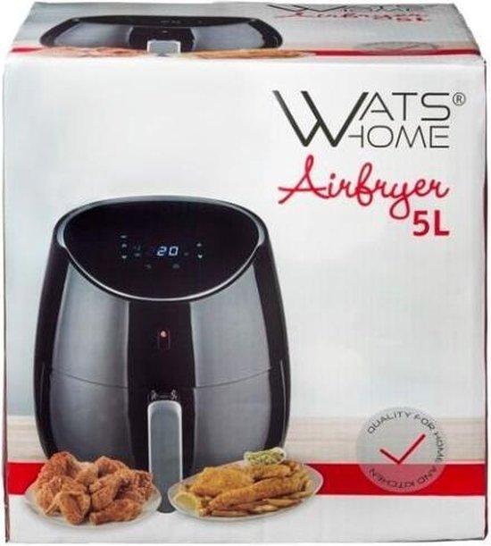 Airfryer - 5 Liter - Watshome - digitaal display - uitneembare mand - Heteluchtfriteuse - Smart fryer - XL