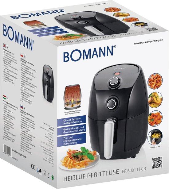 Bomann FR 6001 H CB Air Fryer 1.5L 900W Zwart