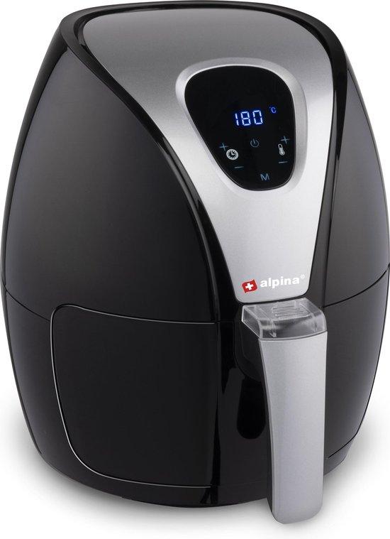 Alpina Airfryer - Hetelucht Friteuse L - 2,4 Liter - 80-200°C - Timer - 1500 Watt - Zwart