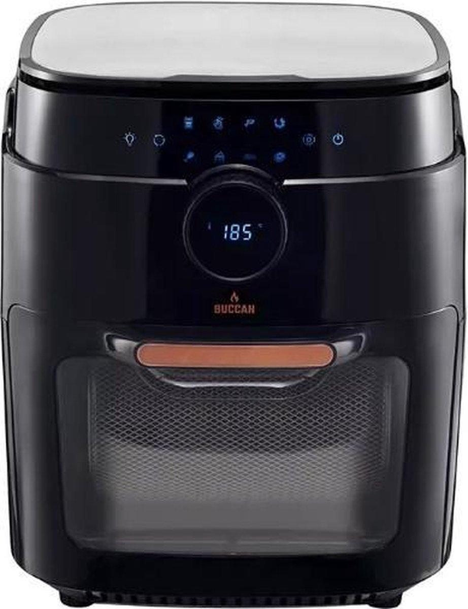 Buccan - Airfryer oven - 12 Liter - Hetelucht friteuse - zwart met roségoud