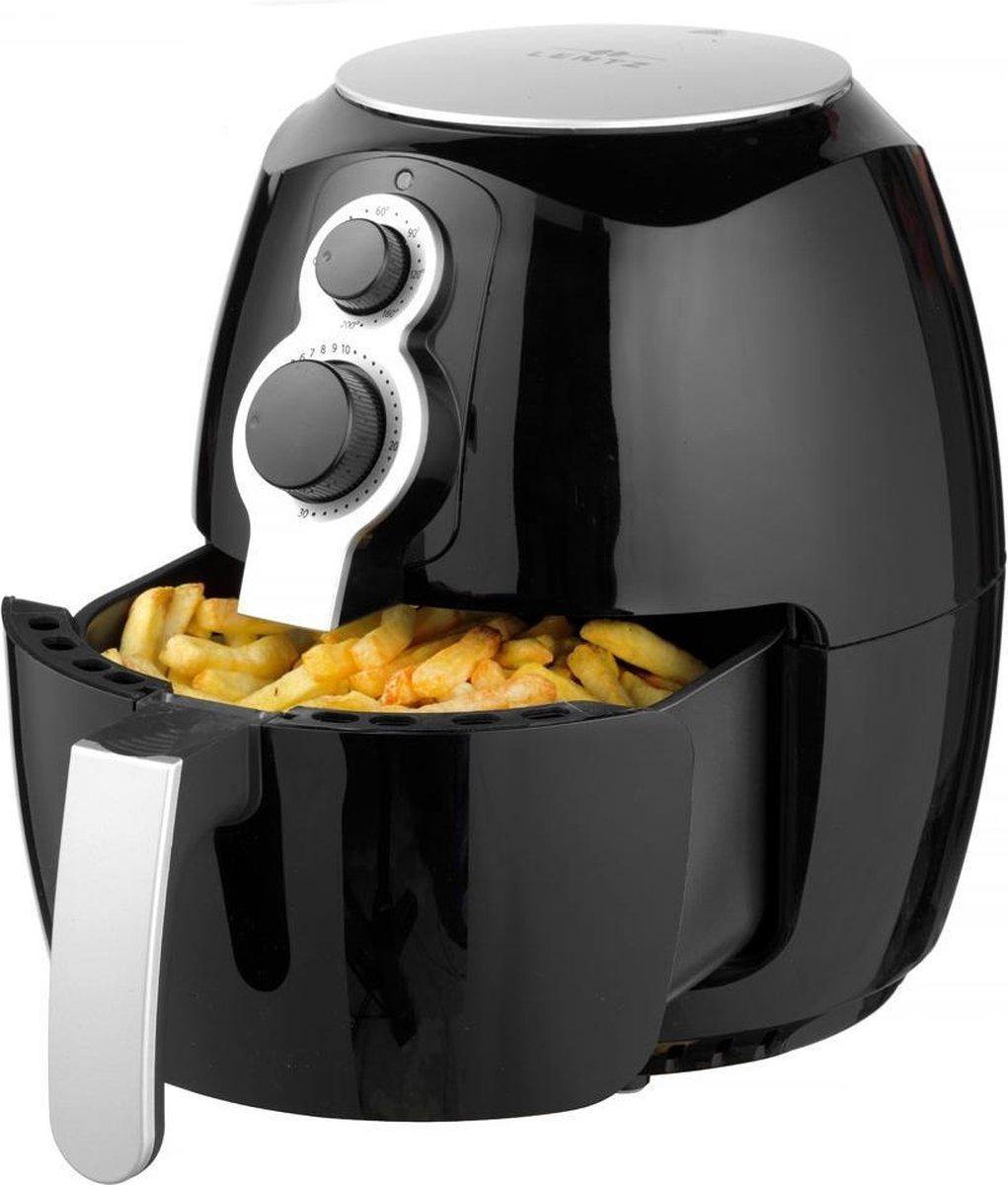Lentz 29024 - Hetelucht friteuse - 3.6 liter - 1400 Watt - zwart