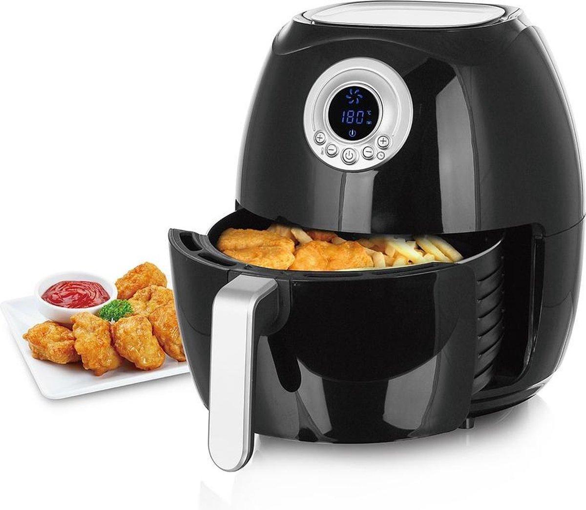 Hetelucht friteuse - Smart fryer - 4,5L- Airfryer - Zwart - 1500W