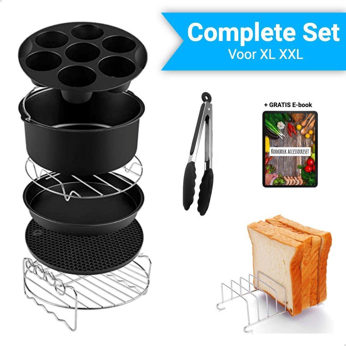 Mondio Heteluchtfriteuse Accesoires Set - XL en XXL - Bakset - Heteluchtfriteuse Accessoires - ø 20 cm