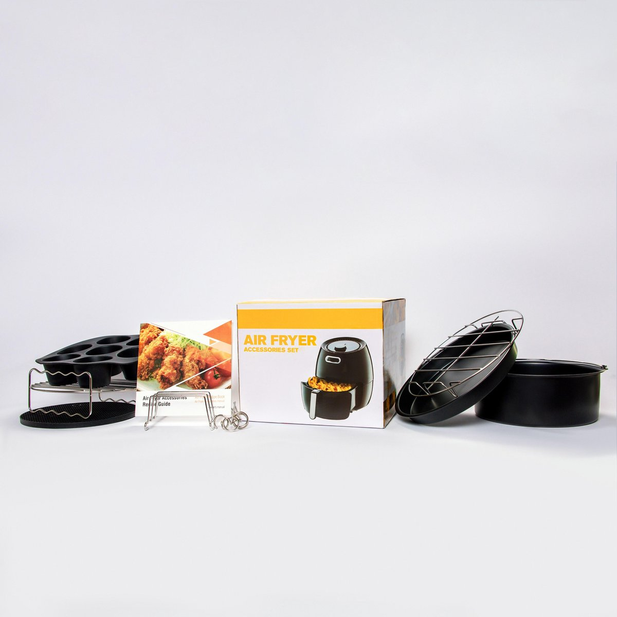 12 Delige Set - Accessoire voor heteluchtfriteuse - Geschikt Voor Philips/Tefal/Princess/Tristar