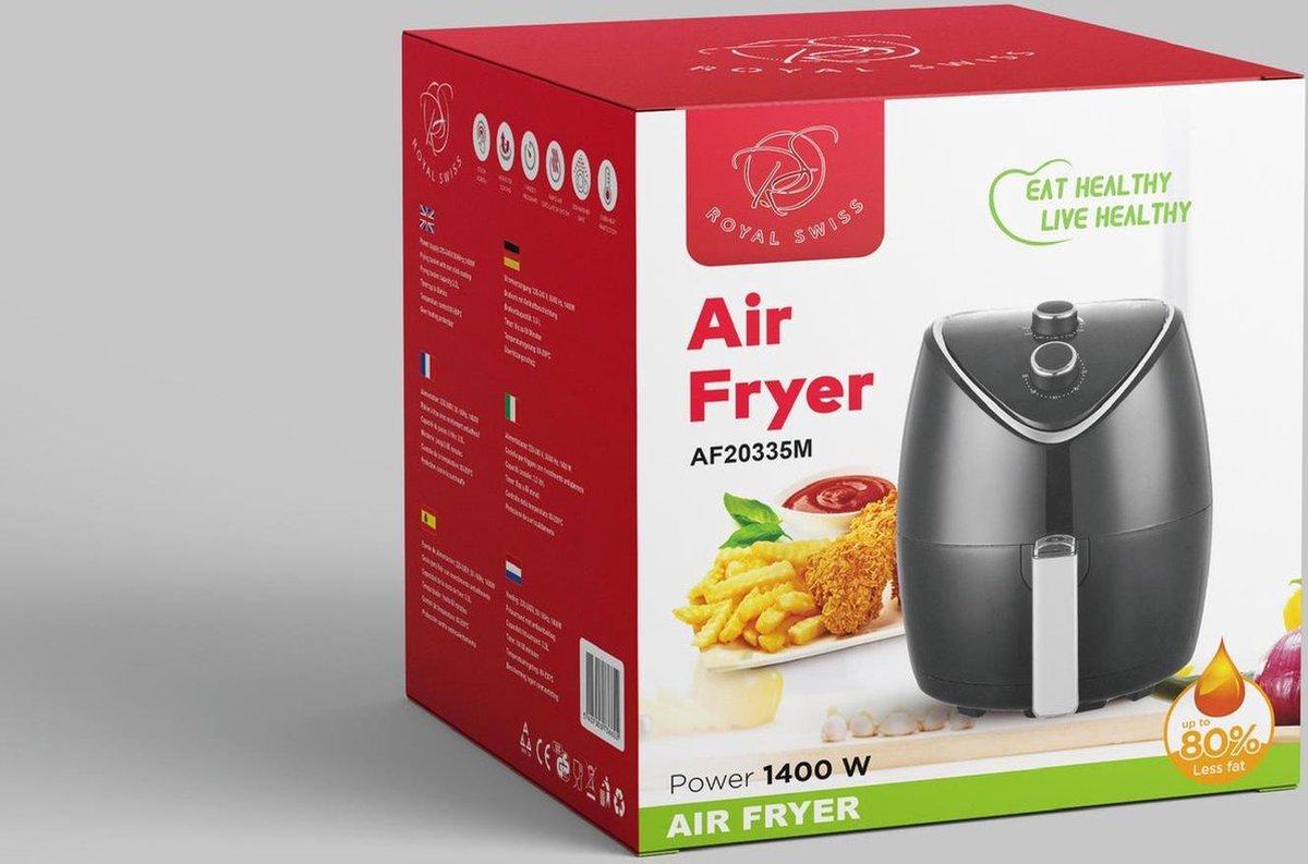 Royal Swiss Airfryer - Heteluchtfriteuse 3,6 L, 1500 Watt - Air Fryer