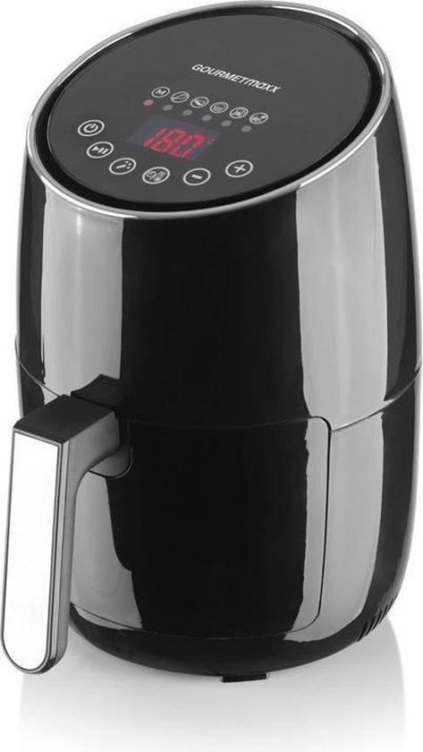 Gourmetmaxx Heteluchtfriteuse - Digitale Heteluchtfriteuse - 2 Liter - 1200 Watt - Zwart
