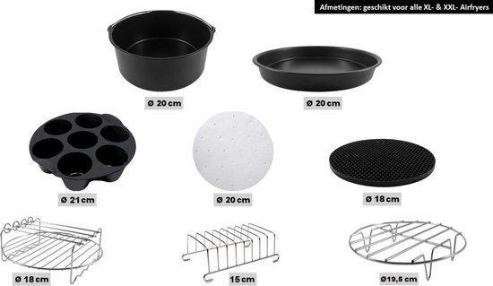 Merkloos - 13-delige set - Heteluchtfriteuse-Accessoires