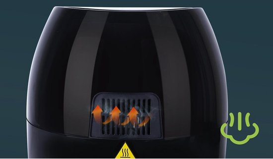 Igna Hida - Hetelucht Friteuse - Timer - 3.5 Liter - Zwart