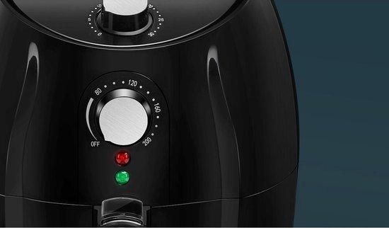 Igan Hida - Hetelucht Friteuse - Timer - 3.5 Liter - Zwart