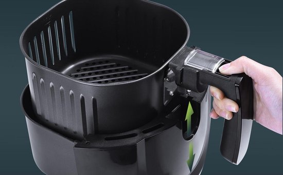 Igia Hida - Hetelucht Friteuse - Timer - 3.5 Liter - Zwart