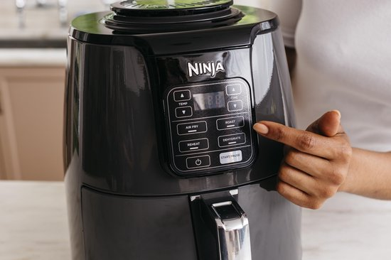 Ninja AF100EU - Multifunctionele Hetelucht Friteuse 3,8 liter - Grijs/Zwart