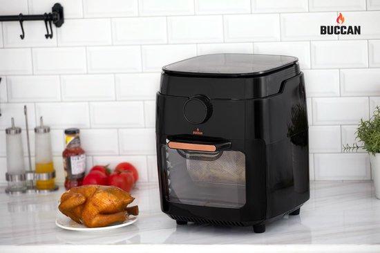 Buccan - 12 Liter - Hetelucht friteuse - zwart met roségoud