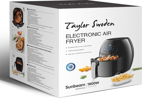 Taylor Swoden Sunbeam 30PQX  - Hetelucht friteuse - Zwart