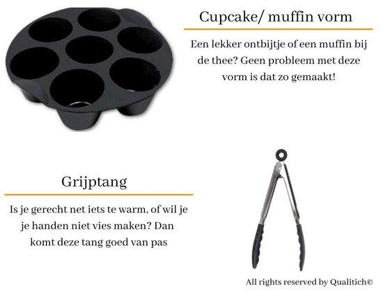 Qualitich © 8-Delige Heteluchtfriteuse Accessoires Set - Geschikt voor oa Philips, Princess, Tefal en Tristar