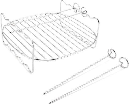 Able & Borret   Grillrooster voor Airfreyer met 4 spiezen   Grillrooster airfryer