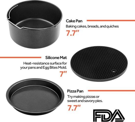 Airfryer Accessoires Universeel Heteluchtfriteuse Set 5,5 Liters