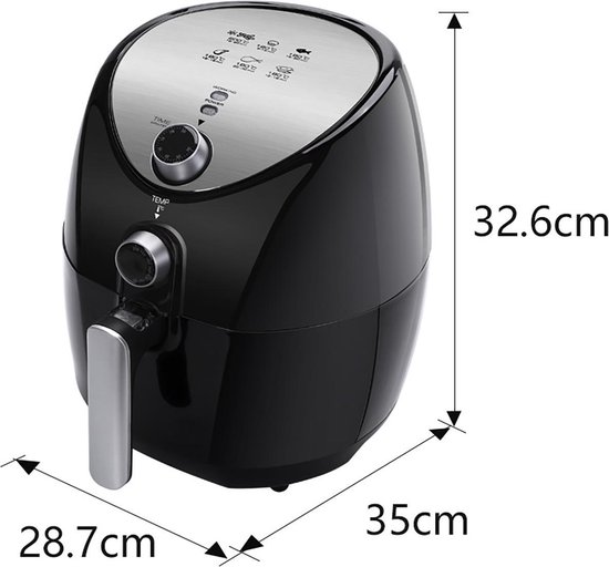 Igan Sunika - Hetelucht Friteuse - Timer - 3.2 Liter - Zwart