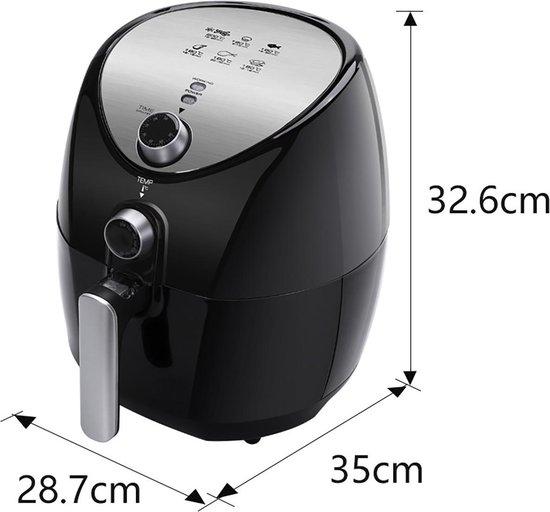 Aigi Sunika - Hetelucht Friteuse - Timer - 3.2 Liter - Zwart
