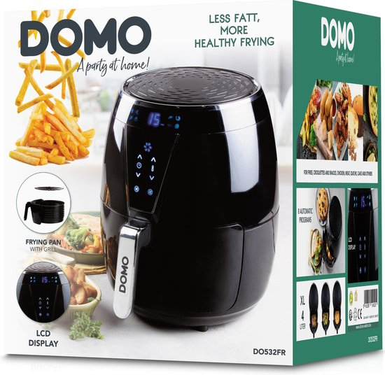 Domo DO532FR - Heteluchtfriteuse XL - 4L - Digitaal