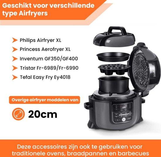 Promida 13-Delige Heteluchtfriteuse Accesoires XL set ⌀20 - Bakset incl.  Ebook
