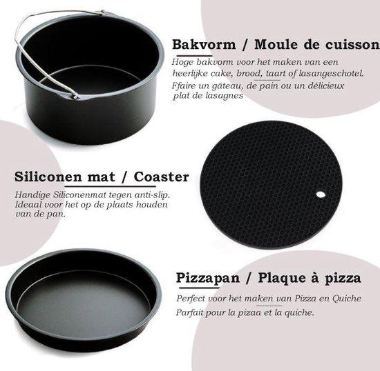 Heteluchtfriteuse XL accessoireset - Heteluchtfriteuse accessoires geschikt voor Philips, Princess en Tristar