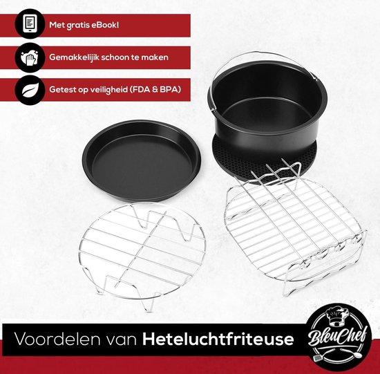 Bleu Chef® 15-Delige Heteluchtfriteuse Accessoires Bakset XL - Inclusief het Airfryer Kookboek