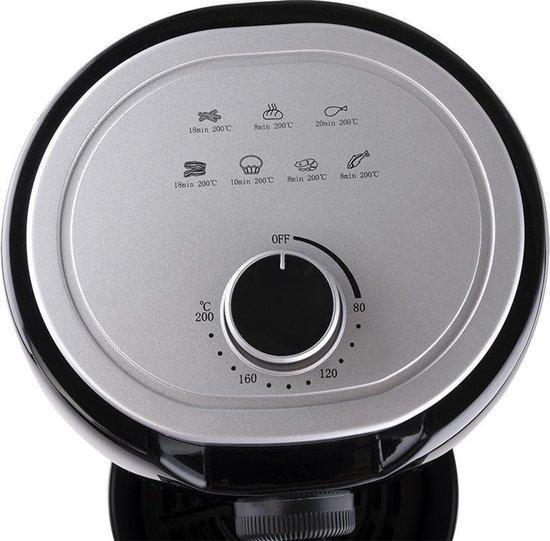 Cuisinier Deluxe Hetelucht friteuse - Airfryer - Gezond Frituren - Hetelucht Frietpan - met Timer - 2 Liter