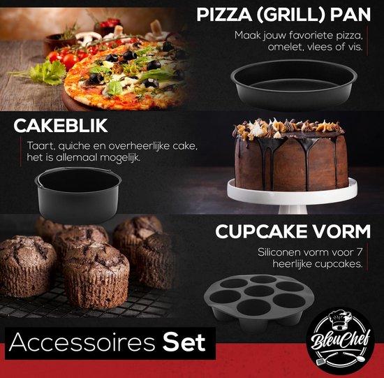 Bleu Chef® 20-Delige Heteluchtfriteuse Accessoires Bakset XL en XXL - Inclusief kookboek