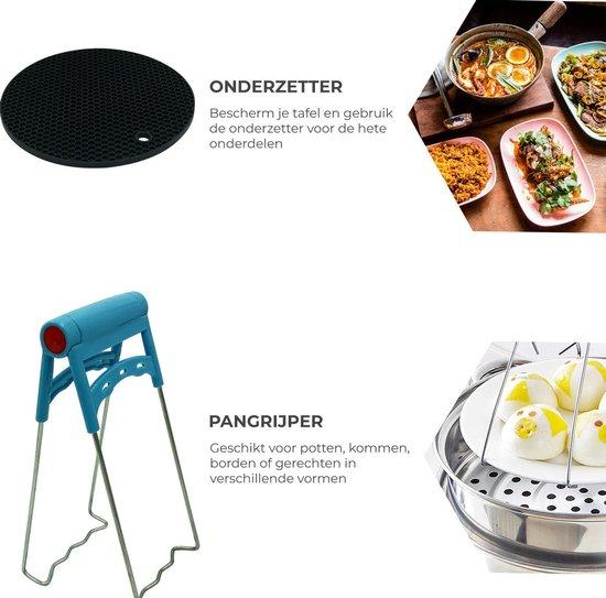 Daily Goods - Heteluchtfriteuse accessoires set - 12 delige accessoire set - Geschikt voor Philips/Tefal/Princess/Tristar