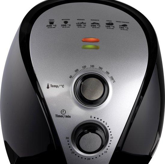 Cuisinier DeLuxe Heteluchtfriteuse - 3,2 Liter - 1300-1500 Watt - Instelbare Tijd- en Temperatuurregeling