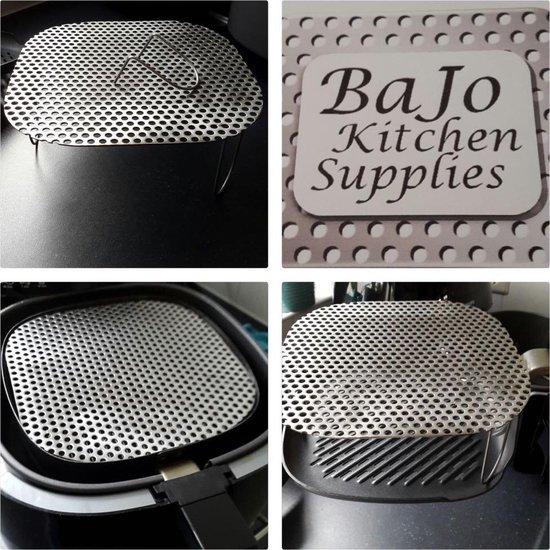 BaJo Huismerk - XL Spatrekje/ Spatdeksel voor Hetelucht Friteuse - RVS