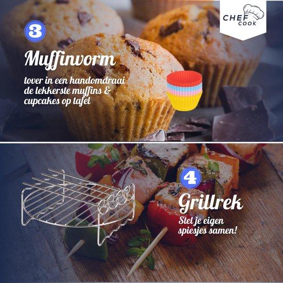 """Heteluchtfriteuse accesoires inclusief """"""""""""""""het airfryer kookboek"""""""""""""""" XL set - dagdeals - vanaf ø20 cm"""