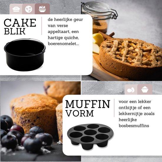 Culi-N-Air - 7-Delige - Heteluchtfriteuse XL accessoires set - Inclusief Kookboek