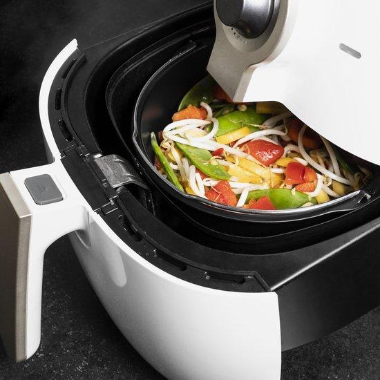 Krumble Airfryer accessoireset / Air Fryer accessoires / Heteluchtfriteuse / Grillrooster, spiezenrek, toastrek, pizzapan, cakevorm etc. / Normaal formaat - RVS en siliconen