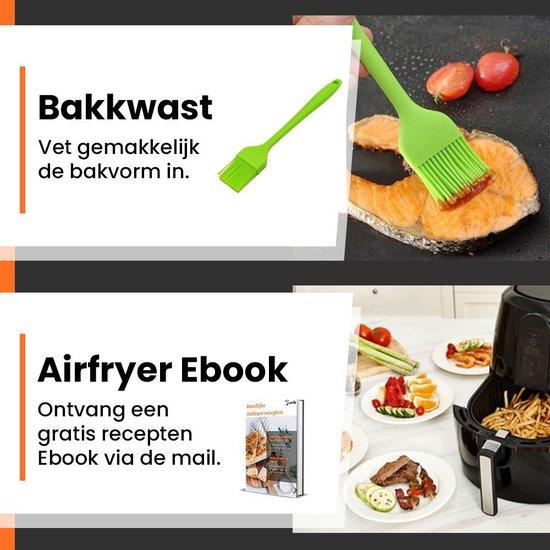 Promida 5-Delige Heteluchtfriteuse XL Accesoires Bak set ⌀19 - Bakvorm incl. Ebook