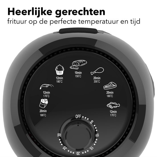 Daewoo DHFRYER Heteluchtfriteuse - 1000 Watt - Compact - 2.4 Liter - Timer