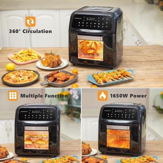 Aigostar Master 30LVU - Airfryer/Oven - Hetelucht friteuse - Zwart