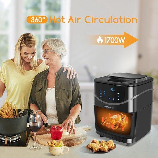 Aigostar Melodia 30XQJ - Airfryer met kookboek - Heteluchtfriteuse - Stoomoven - Zwart