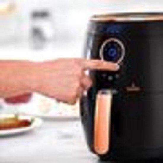 Buccan - Heteluchtfriteuse - 3.2 Liter - zwart met roségoud
