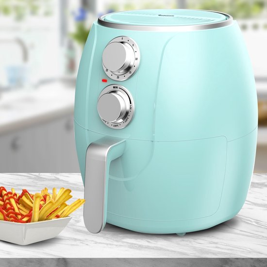 Turbotronic AF3 Airfryer - Heteluchtfriteuse - 3 Liter - Turquoise