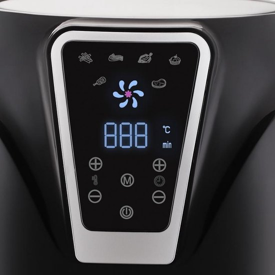 BluMill Digitale - Heteluchtfriteuse - met Touchscreen - 3 liter - Gezonde Keuze