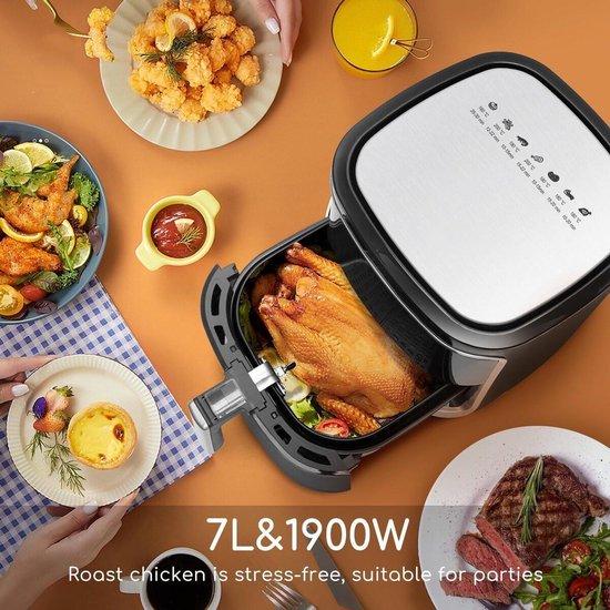 Igna Frina - Hetelucht Friteuse - Timer - 7 Liter - LED Touchscreen - Zwart