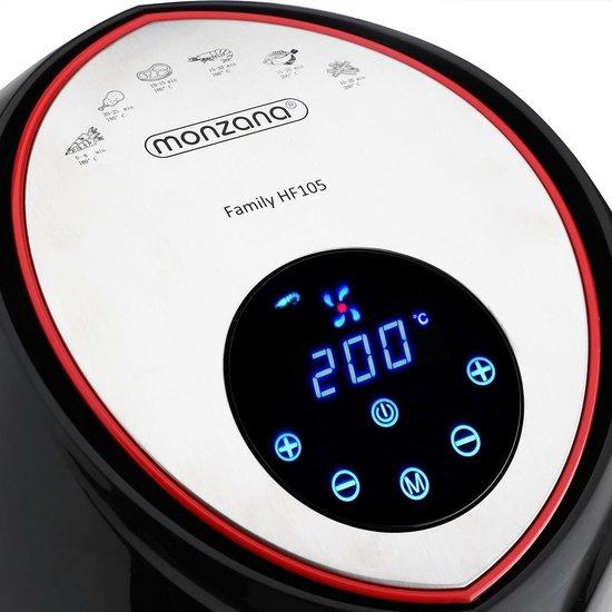 Monzana Hetelucht friteuse Family HF105 met touch display