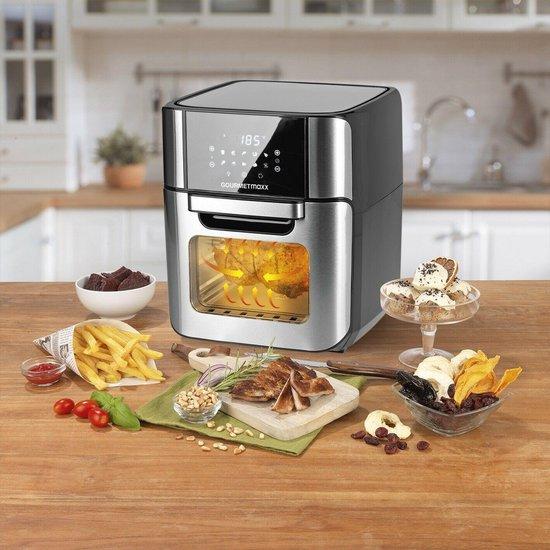 Airfryer - Hetelucht friteuse XXXL - Grill - Heteluchtoven -  Digitaal -  12liter -  Roestvrij staal / zwart
